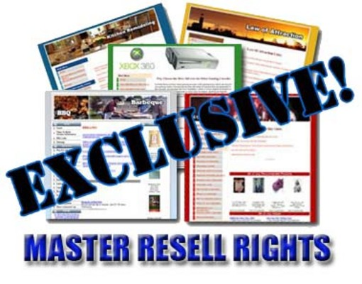 Product picture Exclusive Niche Sites + Master Resell Rights